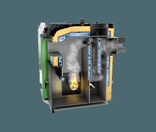 MCE biomasa nierdzewna kociol V6 na pellet