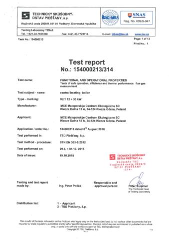 certyfikat kocioł V1 V2