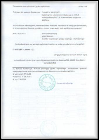 certyfikat kocioł V7